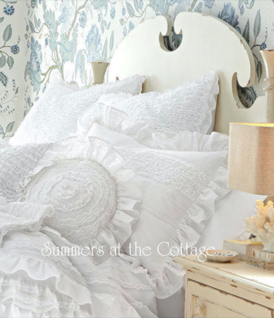 Vintage Shabby Chic Pillow Shams : Shabby Chic Bedding Cottage Pillows & Shams