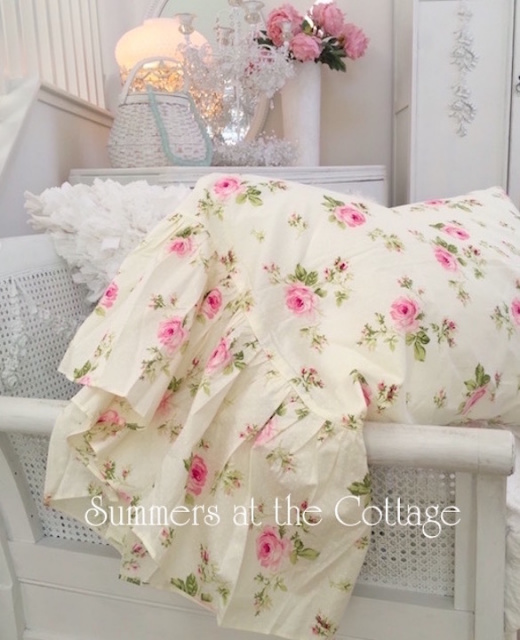 Shabby Chic Pink Pillow Shams : Shabby Chic Bedding Cottage Pillows & Shams