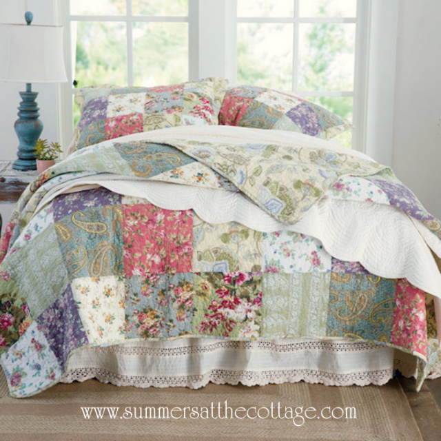 Mulberry Cottage Patchwork French Country King Quilt