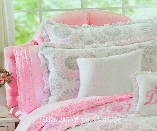 Pretty In Pink Rows Of Ruffles Girls Full Sheet Set
