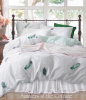 DREAM CATCHER DREAMY AQUA MINT FEATHERS QUEEN DUVET COVER SET