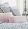 SHABBY DOVE GRAY RUFFLES POLKA DOTS CHIC PINK VELVET WHITE LACE PILLOWS