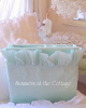 SHABBY COTTAGE CHIC AQUA SURF BLUE POOL RUFFLE SHEET SET
