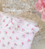 COTTAGE ROSE PINK SHEET SET WITH RUFFLES AND ROSES