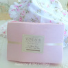 QUEEN SHABBY COTTAGE CHIC FINE LINENS PINK COTTON SHEET SET