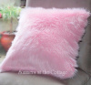 FLUFFY BABY PINK COZY FURRY SHABBY COTTAGE CHIC PILLOW