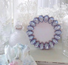 SHABBY CRYSTAL BLUE JEWELED COTTAGE CHIC TEARDROP PICTURE FRAME