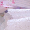 SHABBY WHITE COTTAGE RUFFLE EYELET LACE SHEET SET - FULL, QUEEN, KING, CAL KING