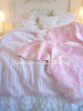 SHABBY COTTAGE CHIC PINK PAISLEY FLOWERS BEACH HOUSE BEDDING
