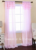 SHABBY ROMANTIC CHIC SHEER RUFFLES CURTAIN DRAPES - BABY PINK OR WHITE