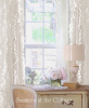 SET OF 2 SHABBY FRENCH COTTAGE CHIC WHITE RUFFLE CURTAINS DRAPE PANELS 84""