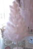 SHABBY COTTAGE LARGE WHITE FEATHER CHRISTMAS TREE CHIC