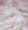 SHABBY COTTAGE CHIC WILDFLOWER PINK ROSES TWIN DUVET & BEDSKIRT