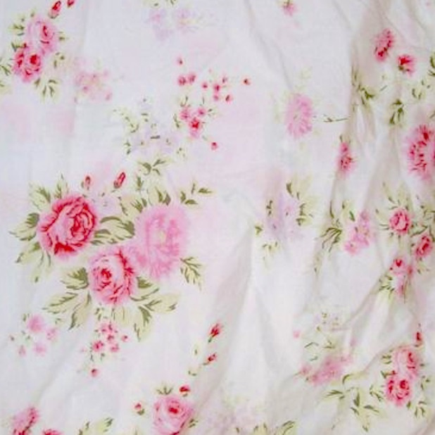 ORIGINAL SHABBY CHIC  RACHEL ASHWELL WILDFLOWER BOUQUET FABRIC PINK ROSES