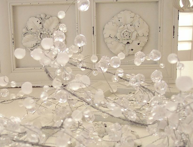 crystal christmas tree garland