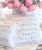 VINTAGE COTTAGE FARMHOUSE FRENCH MARKET WHITE LINEN RUFFLE PILLOWS