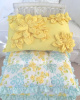 SUNNY YELLOW FLOWERS COTTAGE BUNGALOW ACCENT PILLOW