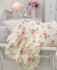YELLOW PINK ROSES RUFFLE PILLOW SHAM PILLOWCASES SHABBY COTTAGE CHIC