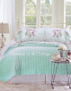 SHABBY COTTAGE CHIC ROMANTIC VINTAGE PINK ROSES RUFFLES AQUA MINT BEDDING