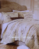 FRENCH COUNTRY FARMHOUSE SCRIPT POSTCARD VINTAGE PARIS COTTAGE BEDDING (King or Queen)