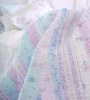 LAVENDER BLUE RUFFLES & LACE ROSES COTTAGE QUILT SET - QUEEN or KING