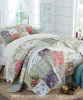 MULBERRY COTTAGE FRENCH COUNTRYSIDE QUILT SET PILLOW SHAMS - KING or QUEEN