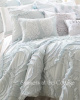 VINTAGE COTTAGE WAVES OF RUFFLES QUEEN QUILT & PILLOW SHAMS