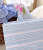 BLUE STRIPE SHEETS COASTAL BEACH HOUSE BLUE WHITE SHEET SET