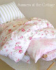 ORIGINAL SHABBY CHIC  RACHEL ASHWELL WILDFLOWER BOUQUET or ROSEBLOSSOM FABRIC COT COVER PINK ROSES
