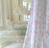 SHABBY BEACH HOUSE CHIC BELLA BLUE PINK ROSES CHIC FABRIC BY THE YARD