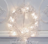 SHABBY CRYSTAL CLEAR SHINY SPARKLES BRIGHT BEADED CHIC HOLIDAY CHRISTMAS GARLAND WREATH