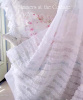 SHABBY WHITE RUFFLES ORGANZA CHIC SHOWER CURTAIN