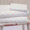 SHABBY PINK CHIC WHIMSICAL POLKA DOTS ON WHITE FULL SHEET SET