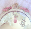12 SHABBY ROMANTIC PINK CRYSTAL CHANDELIER DROPS CHIC SHOWER CURTAIN HOOKS