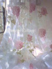 SUMMERS COTTAGE SHABBY PINK ROSES CHIC CURTAIN DRAPE PANELS - SET OF TWO