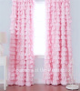PRETTY RUFFLES DRAPE SET BABY PINK RUFFLED CURTAIN DRAPES