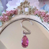 SHABBY CRYSTAL CHIC PINK WINE SHOWER CURTAIN HOOKS