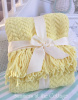 COTTAGE BUNGALOW SUNNY YELLOW KNIT THROW WITH FRINGE